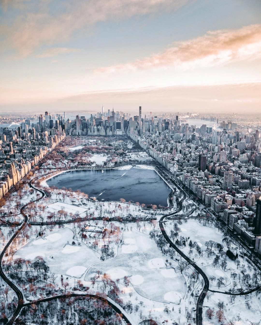 Central Park From Above Wingsairheli New York Wallpaper Nyc Snow New York Photography