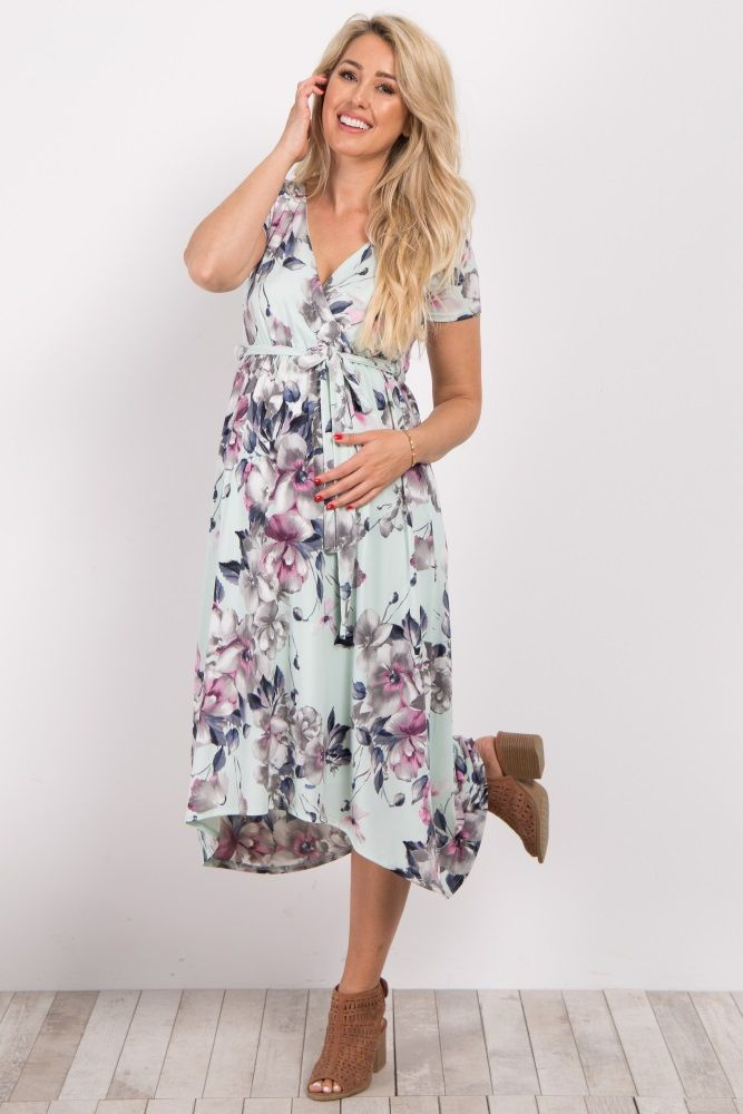 Beautiful And Flattering This Hi Low Maternity Dress Is Perfect For Dressing Up Or