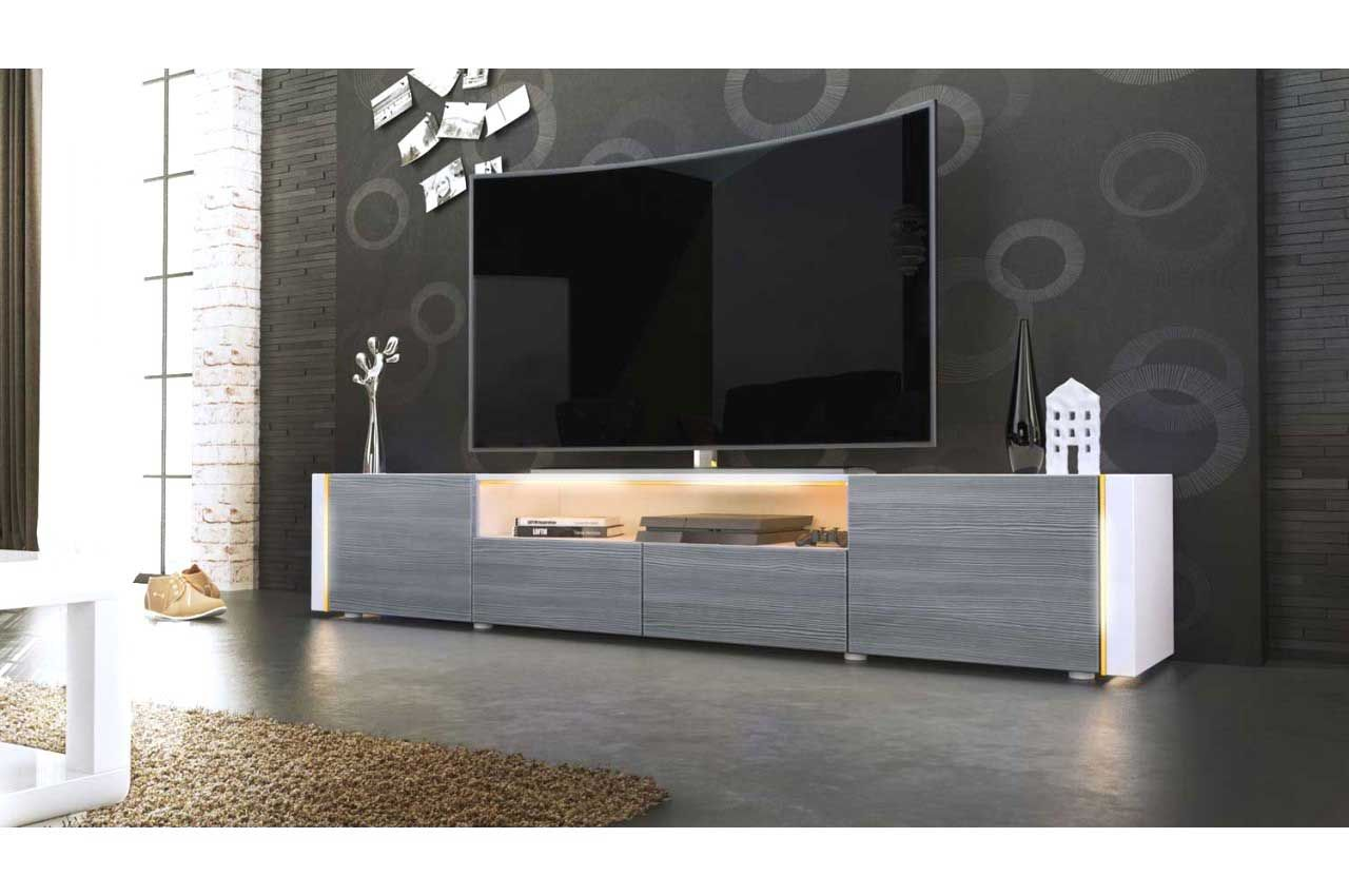 Grand Banc Tv Design Laqu Trendymobilier Com Avec Grand Banc Tv