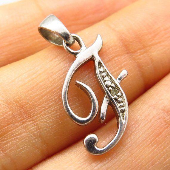"Diamonds Initial Letter /""F/"" 925 Sterling Silver Pendant Jewelry DIAM-F"