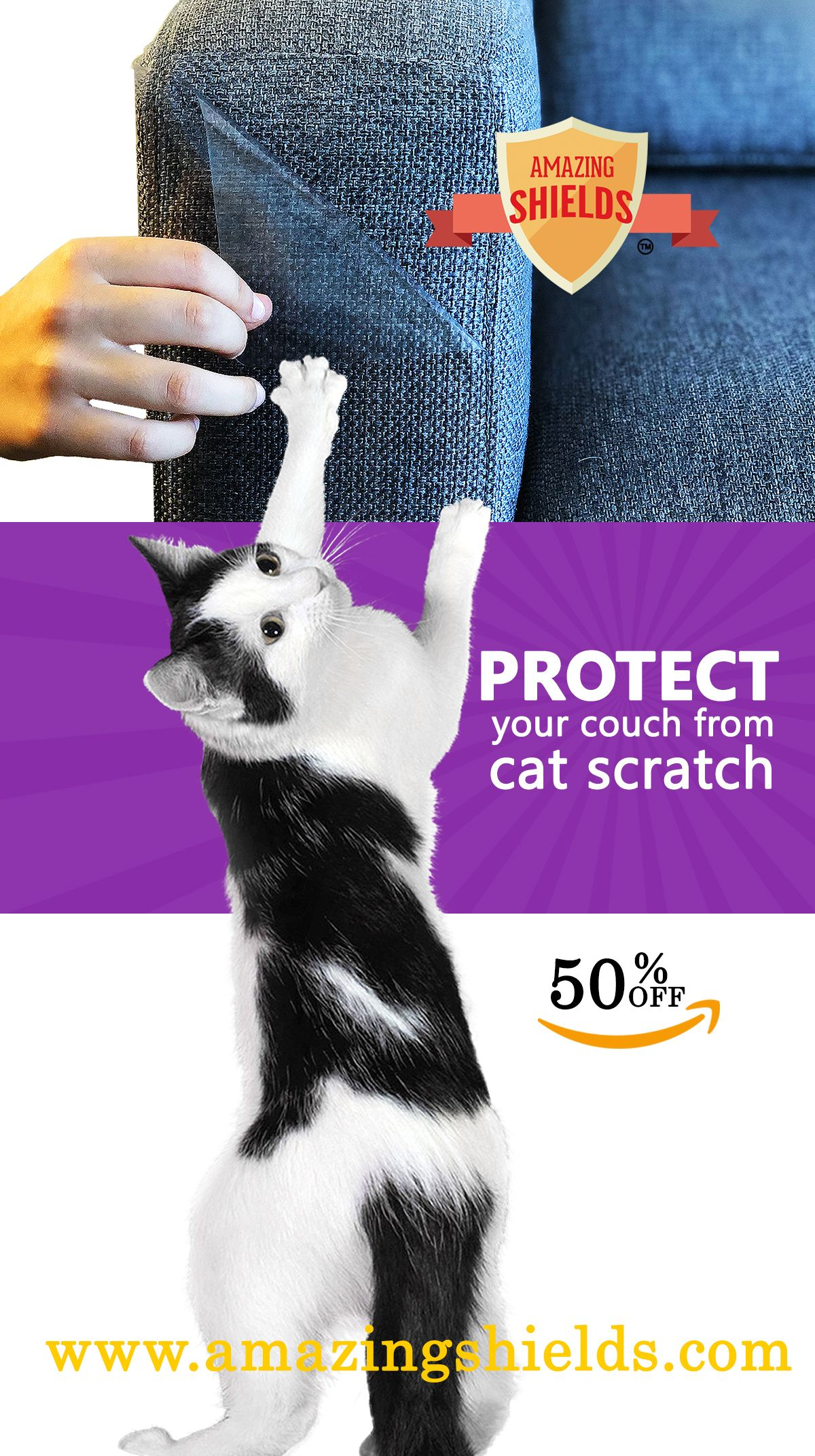 Protect Your Couch From Cat Claw Damage Amazing Shields Is An Anti Scratching Furniture Protector It Will Or Fabric And Leather