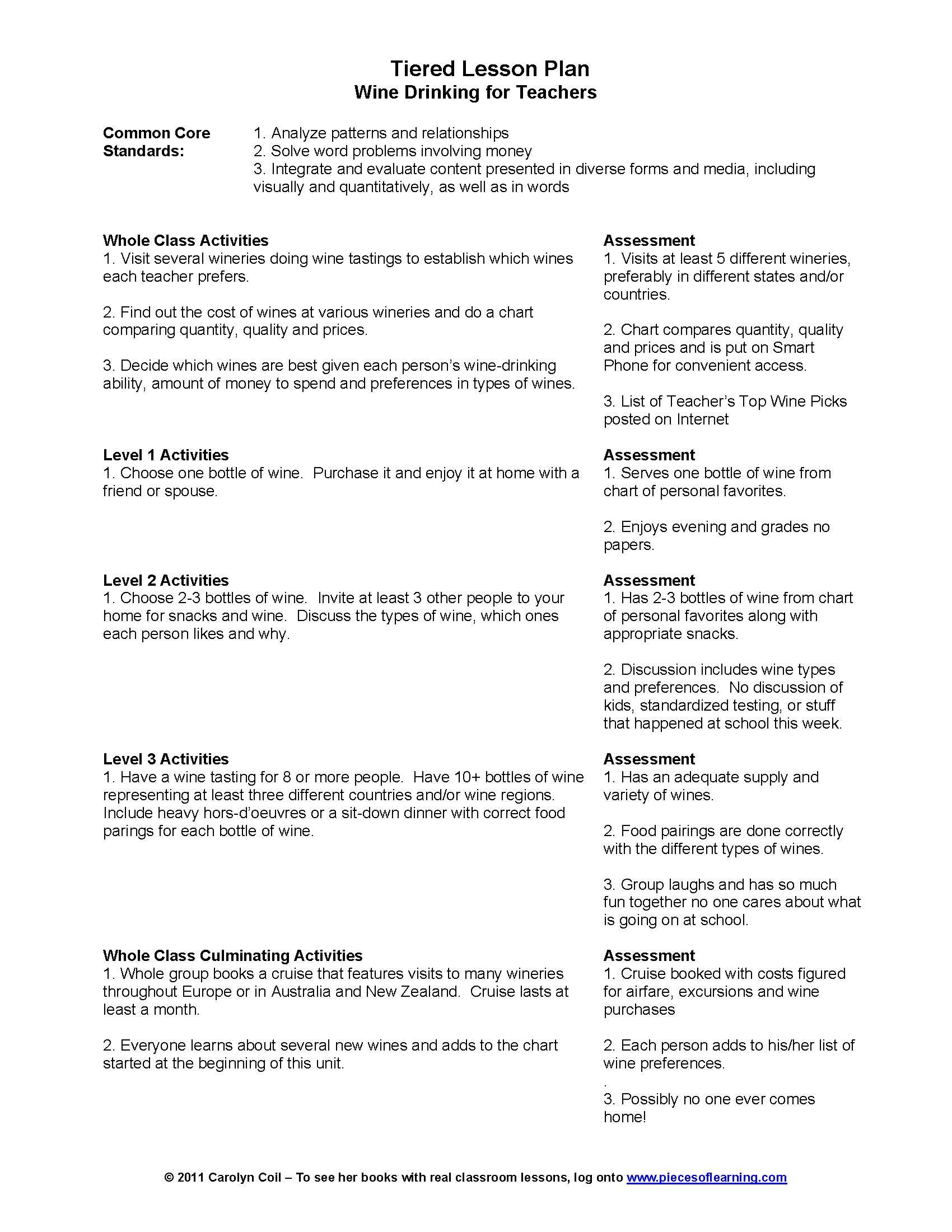 Can an example of a tiered lesson plan be made any more for Socratic seminar lesson plan template