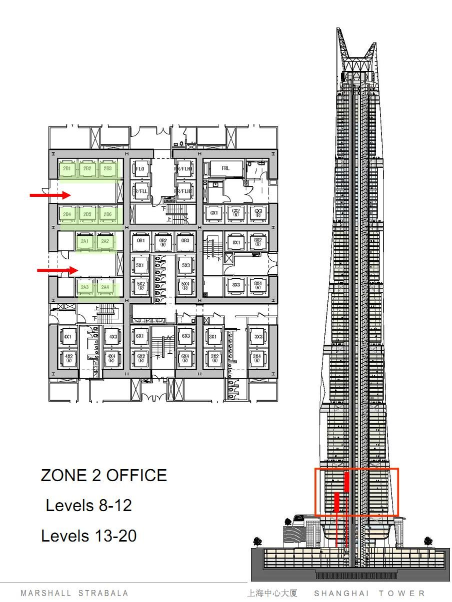 Shanghai Tower Section Core Gensler Towers Pinterest
