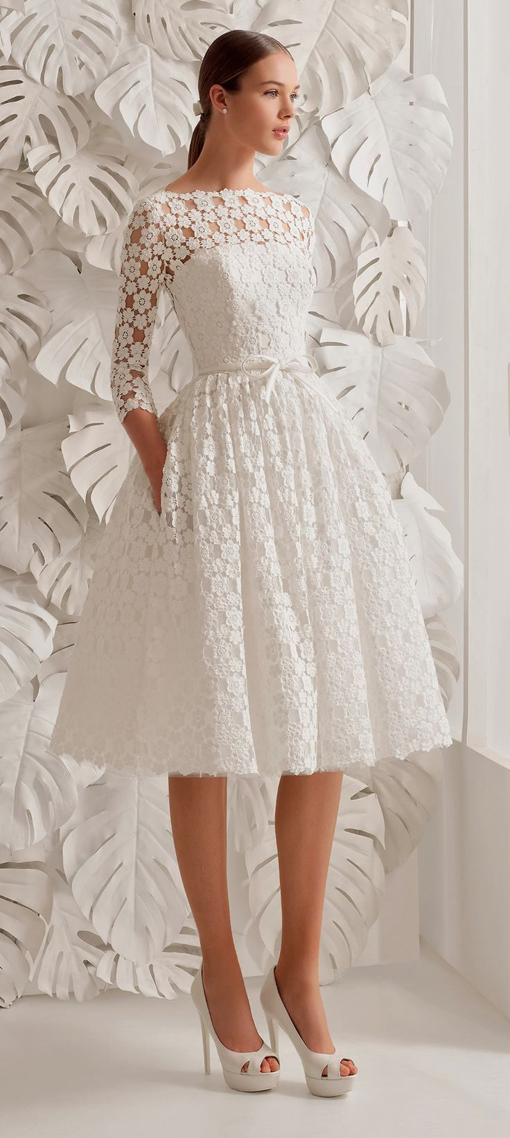 40 Prettiest Rehearsal Dinner Short Wedding Dresses | Short lace ...
