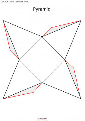 piramide para recortar  recursos de matematicas  Pinterest  3d