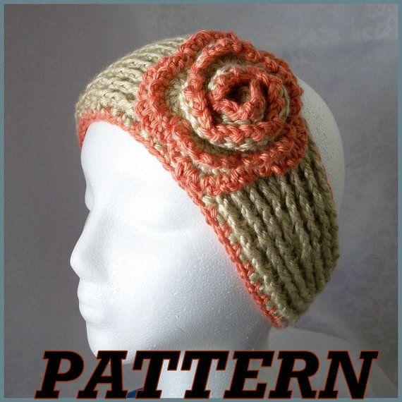 Instant Download for PDF CROCHET Pattern: New Headband w/Lettuce ...