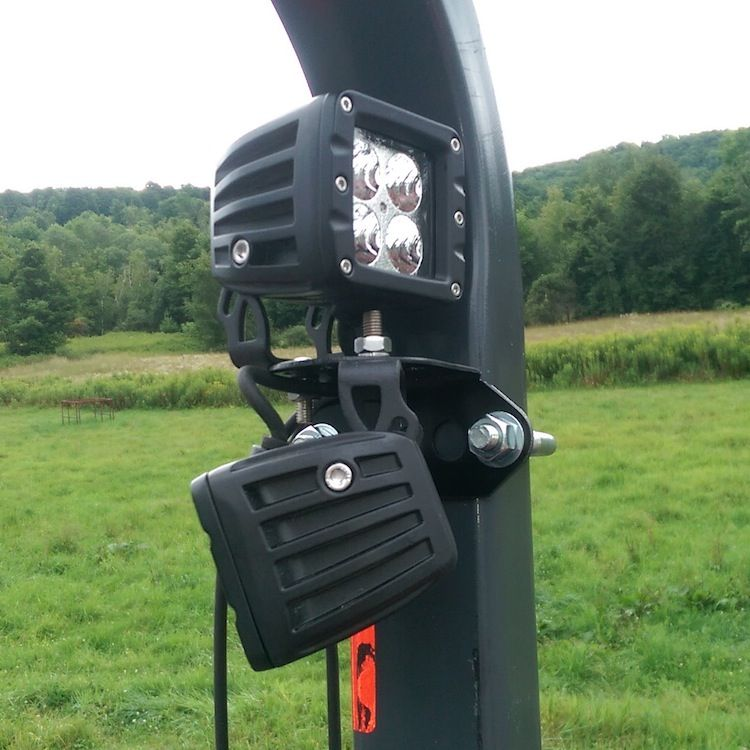 Roll Bar Mounted Light Bracket For Tractors Kubota