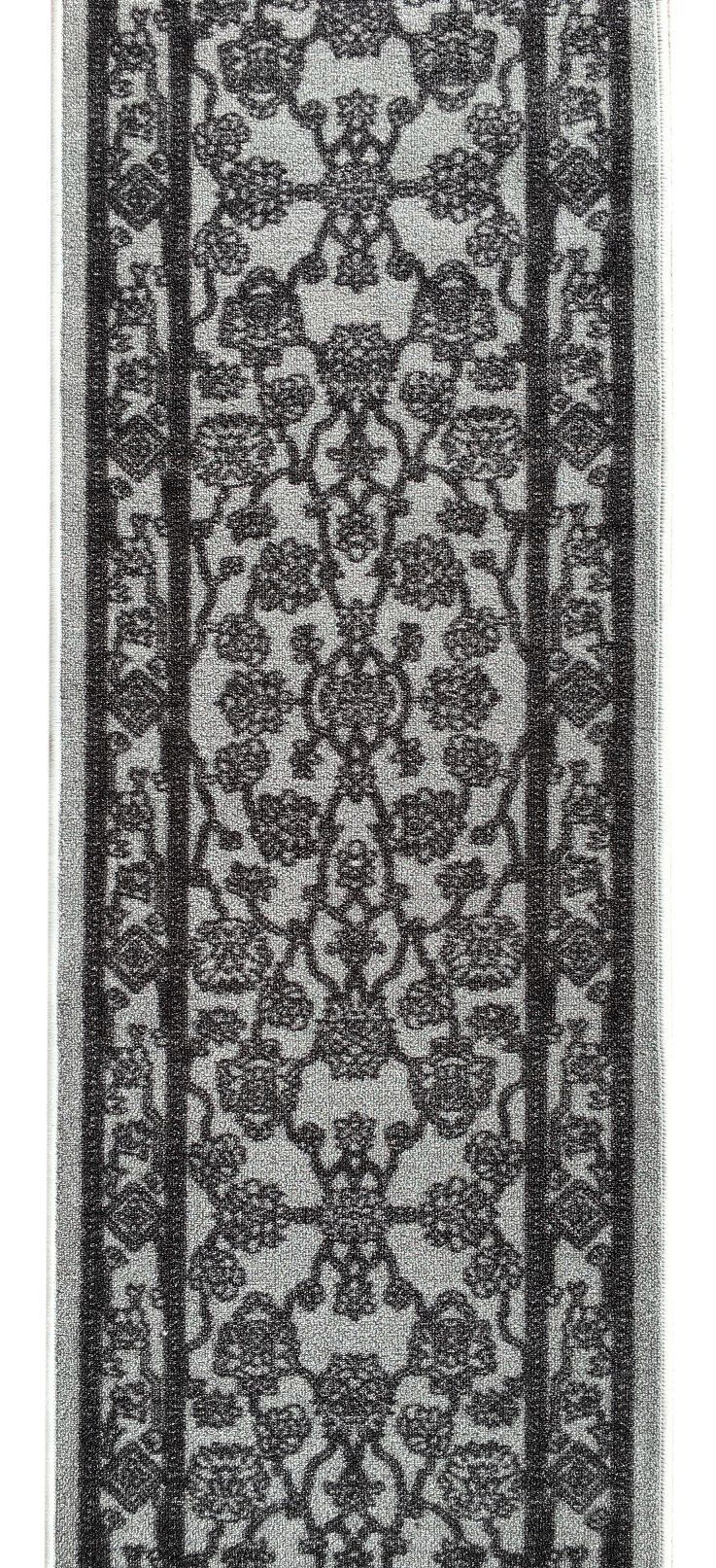 Kapaqua Custom Size Grey Egyptian Print Traditional Persian Rubber Backed Nonslip Hallway Stair Runner Rug Carpet 22 Inc Rugs On Carpet Stair Runner Rug Runner