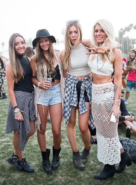 Loving this #crochet maxi skirt. The vest looks like it may be crochet also. - #coachella #fashion