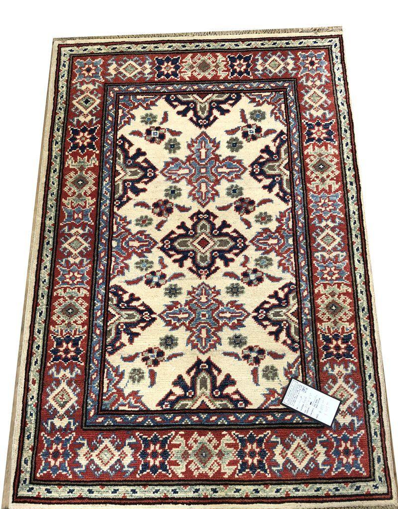 20984 Kazak Hand Knotted Handmade Afghan Rug Carpet Tribal Nomadic