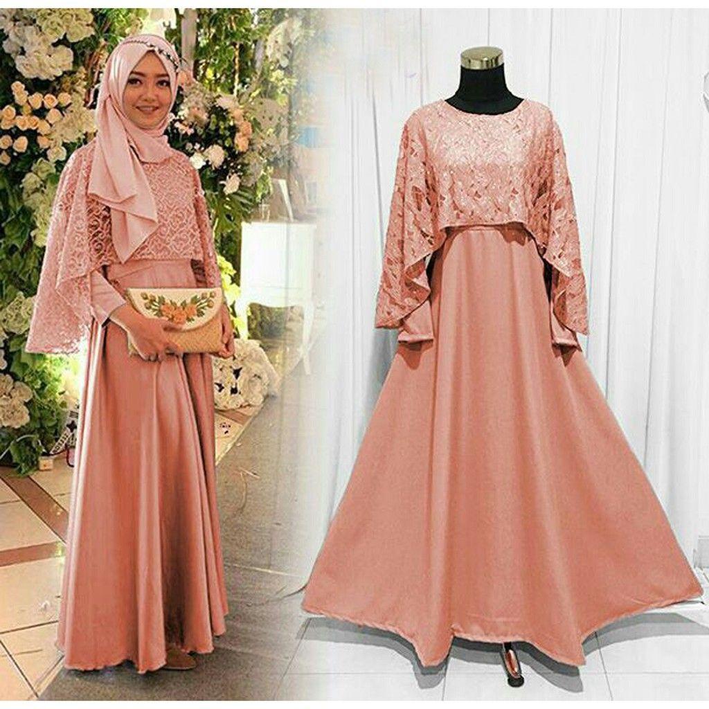 Model Baju Gamis Kelelawar Untuk Pesta di 8  Busana islami