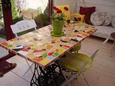 Awesome Fabriquer Une Table De Jardin En Mosaique Ideas - Seiunkel ...