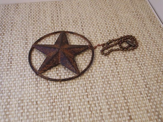 Set of 2 texas star ceiling fan pull rustic by eclecticallycrafted set of 2 texas star ceiling fan pull rustic by eclecticallycrafted 2500 aloadofball Gallery