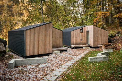 cabane mini chalet montagne ekokoncept for 4 0 maison prefabriquee contemporaine ecologique en. Black Bedroom Furniture Sets. Home Design Ideas