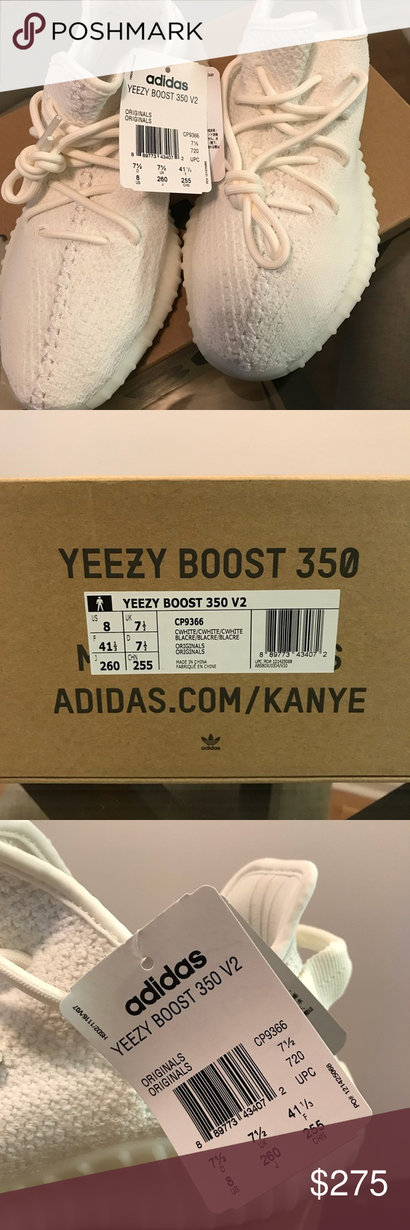 online store 46332 5bc01 Adidas Yeezy Boost 350 triple white Purchased from Yeezy ...
