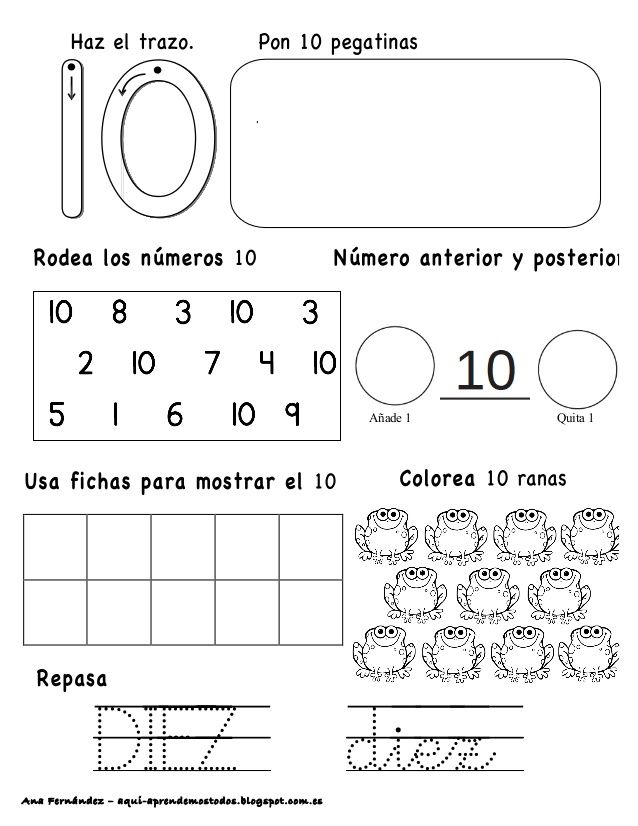 Números hasta el 10 - modificado | Matematicas | Pinterest | Zahlen ...