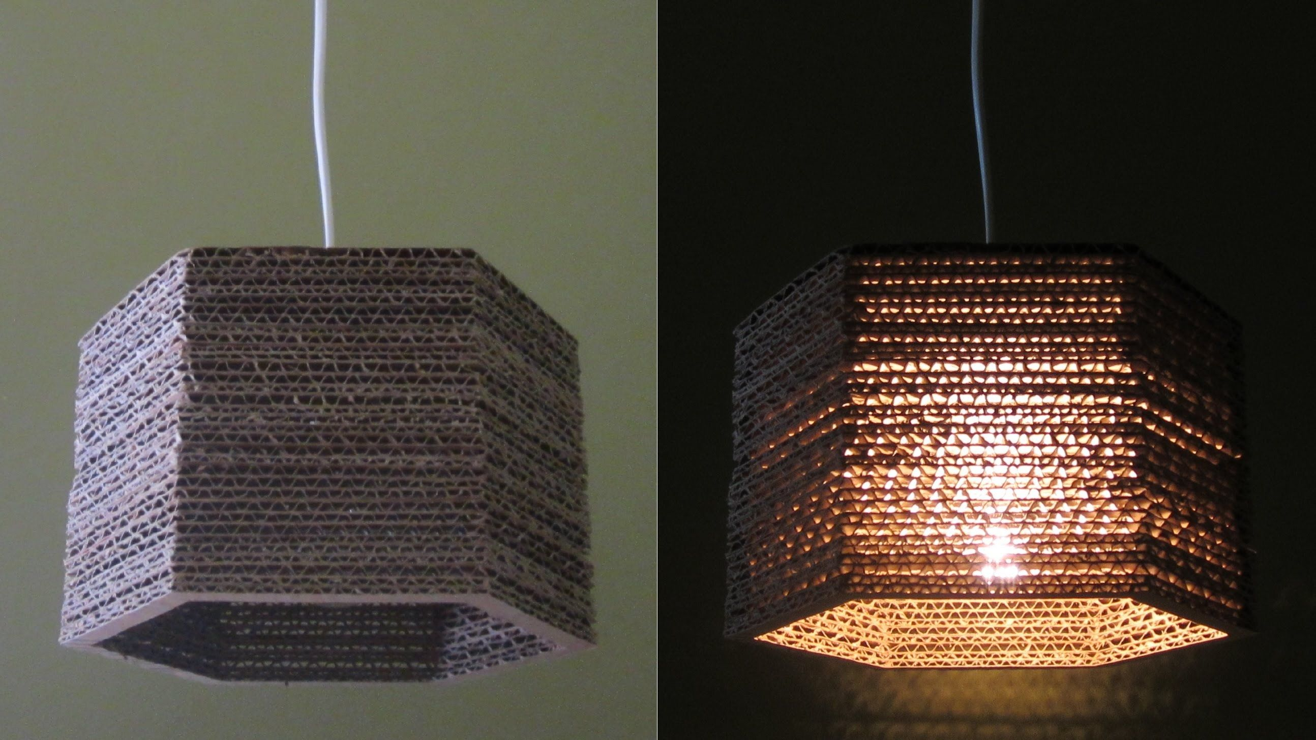 Lampada Origami Di Edward Chew : Cardboard lamp diy hexagon best out of waste project