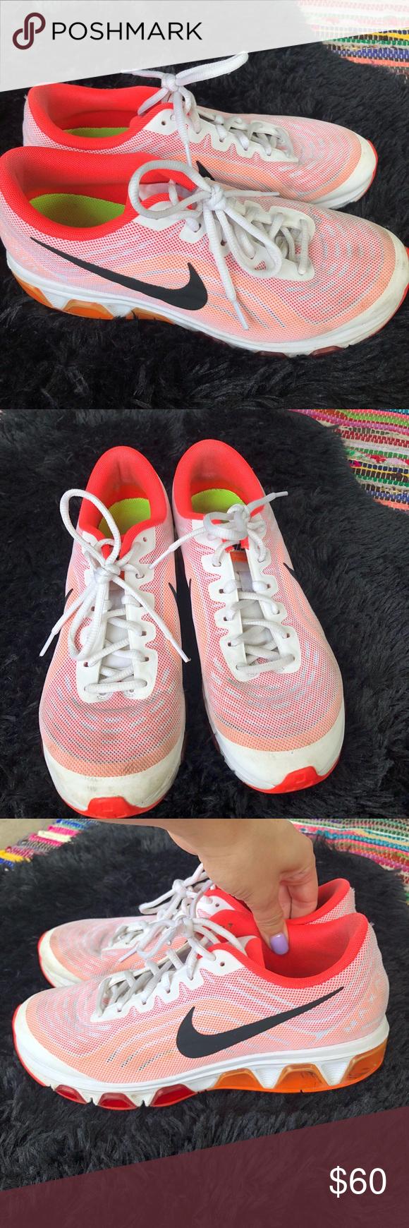 Nike max air waffle skin orange and pink sneakers Nike max