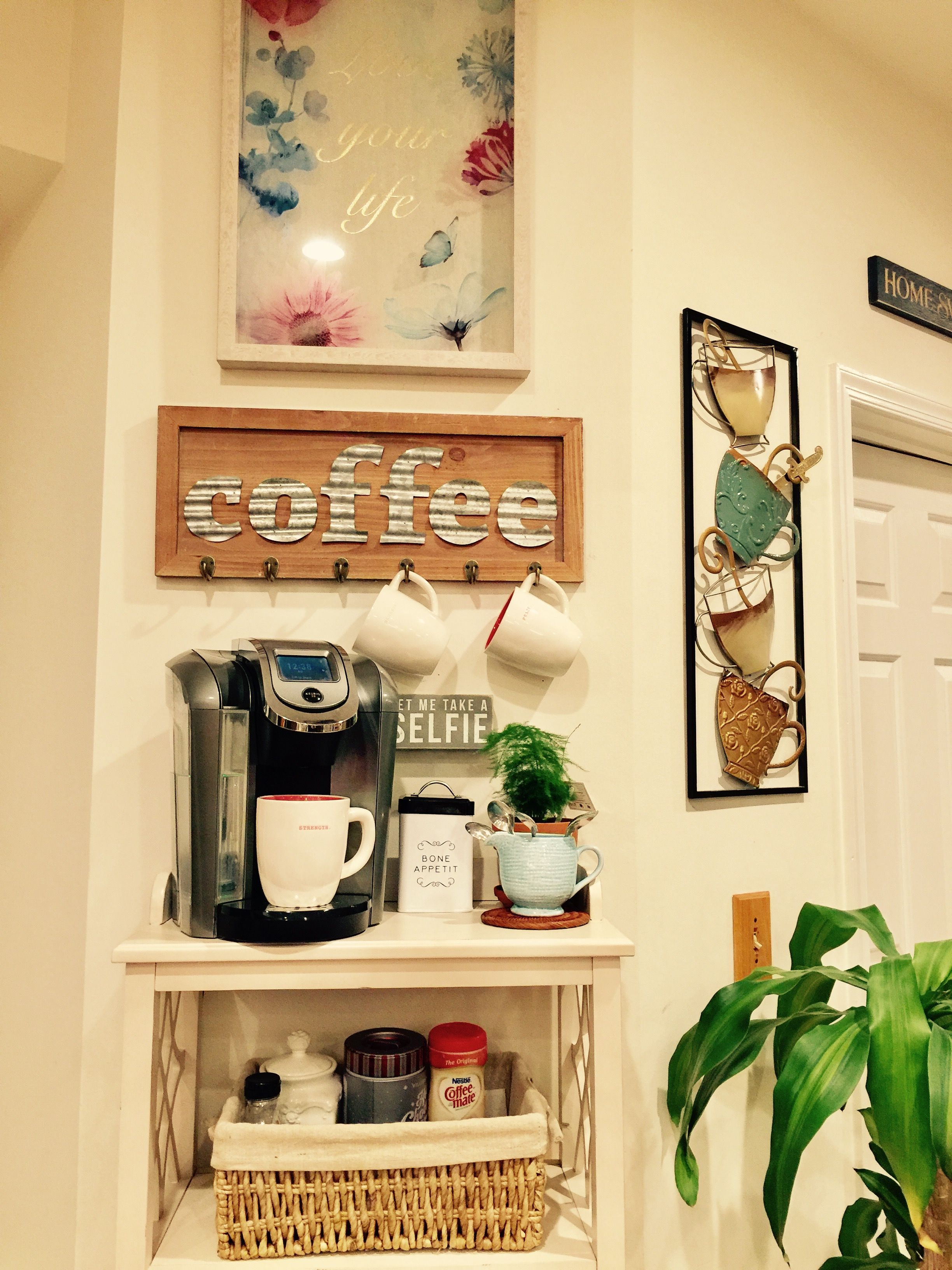 Coffe bar idea. My relaxing corner   Coffee bar decor   Pinterest ...