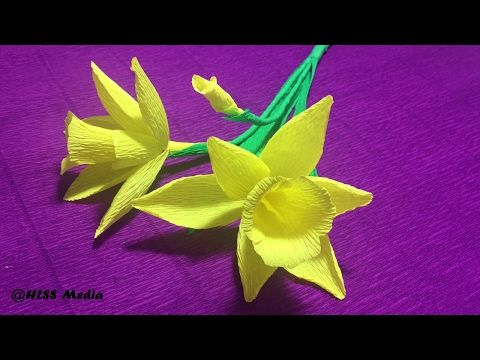 How to make beautiful daffodils origami paper flower easy diy crepe how to make beautiful daffodils origami paper flower easy diy crepe paper flower step by mightylinksfo Images