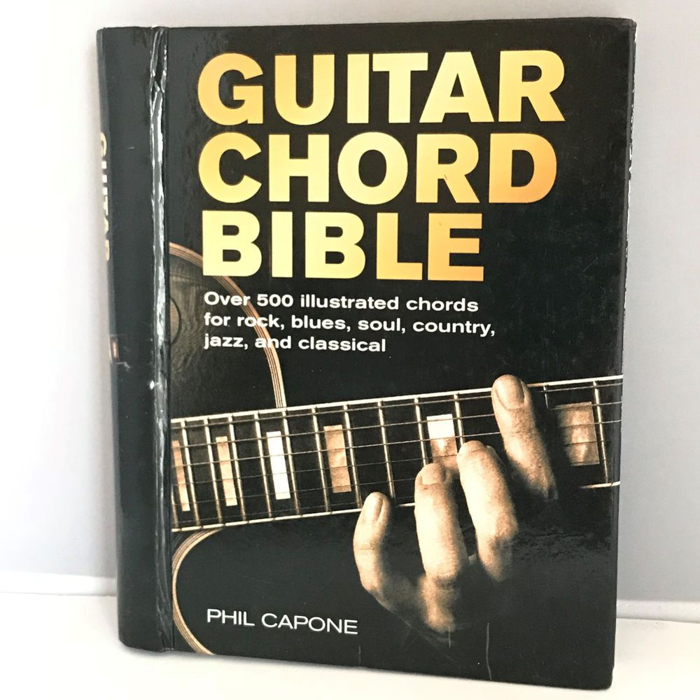 Guitar Chord Bible 500 Illustrated Chords Rock Classical Book Phil