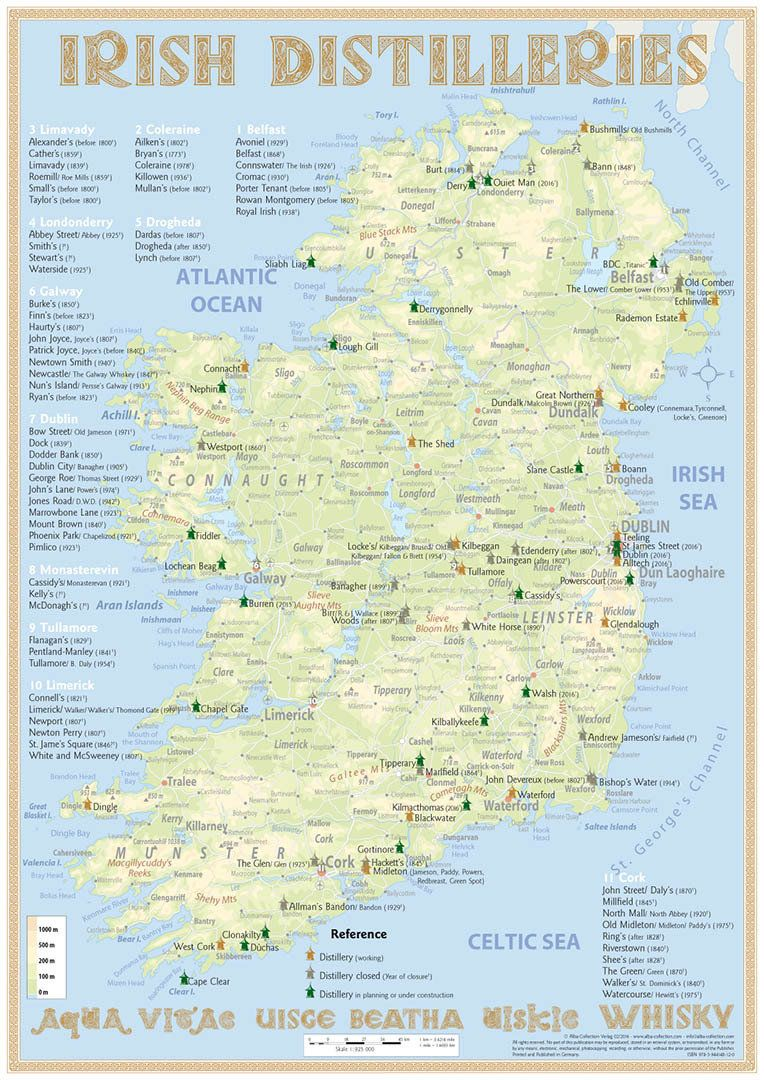 Photo of Irish Distilleries Map · Edition 2016 (poster 42 x 60 cm & TastingMap 24 x 34 c…