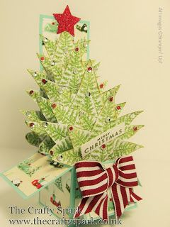 Christmas Tree Card In A Box Tutorial Cards Christmas Tree Cards