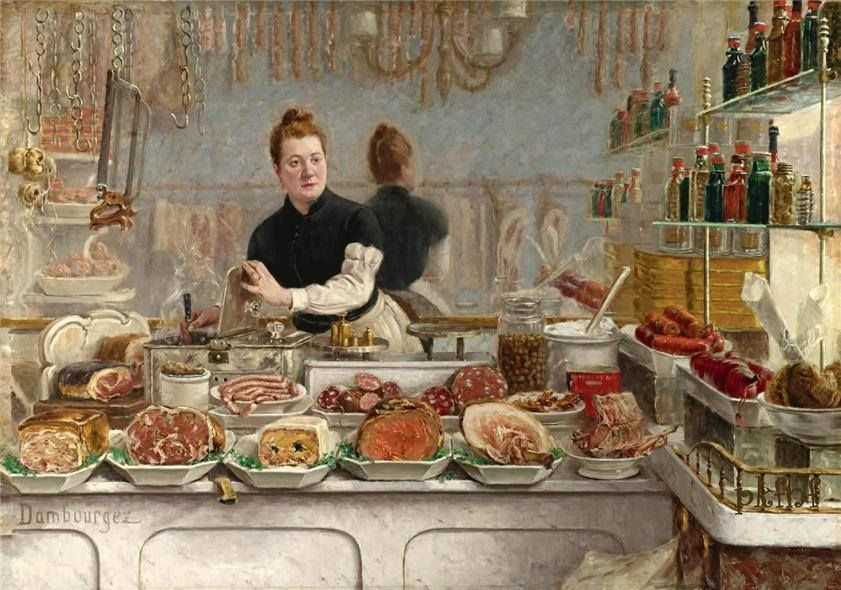 EDOUARD-JEAN DAMBOURGEZ - Vendedora de frios - c. 1900