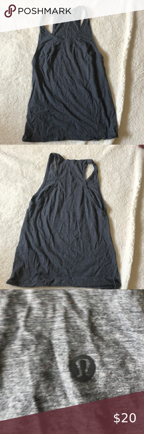 Lulu Lemon Tank Top Size 2 Lulu Lean On Tank Top Made Of Stretchy Cotton Like Material Accidentally Bought Two And Haven T Wor In 2020 Tank Tops Tops Clothes Design