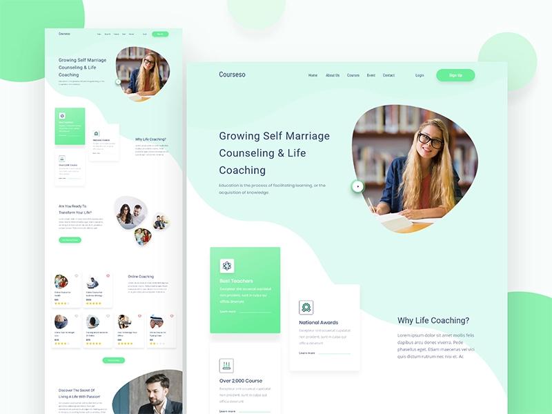 Courseso Counseling Life Coaching Landing Page Life Coach Landing Page Counseling