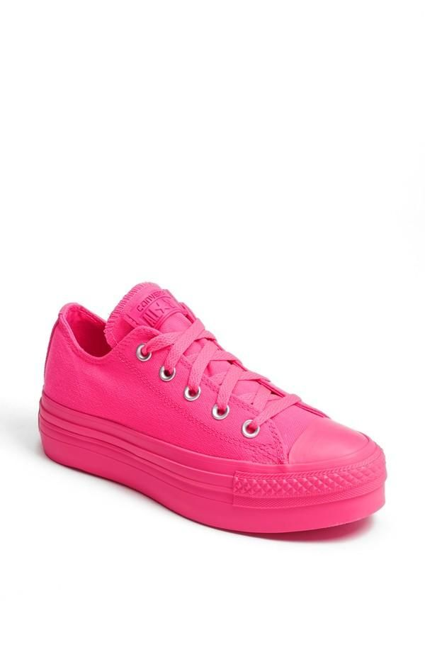 converse all star platform rosa