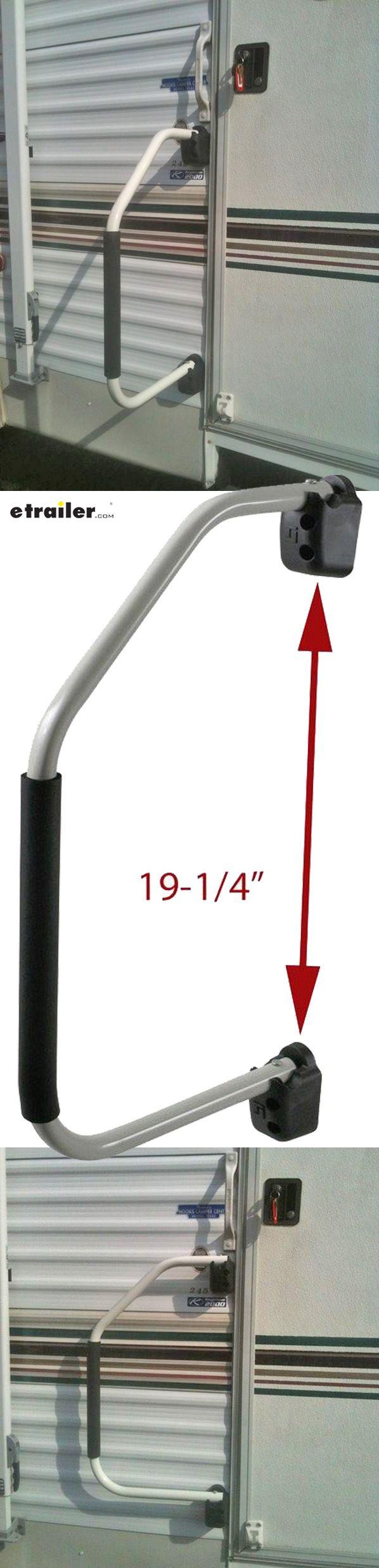 Fold Away Door Grab Handle Bar RV Camper Trailer Motorhome Grip Hand Rail White