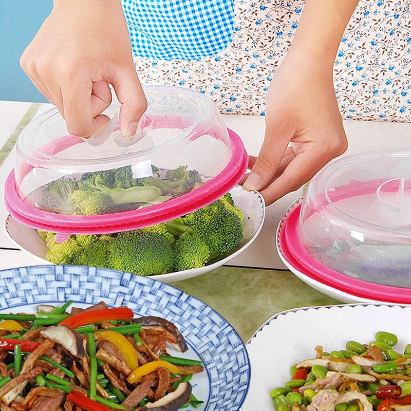 Plate Topper Universal Leftover Lid Microwave Cover Airtight Home Use Fresh NEW