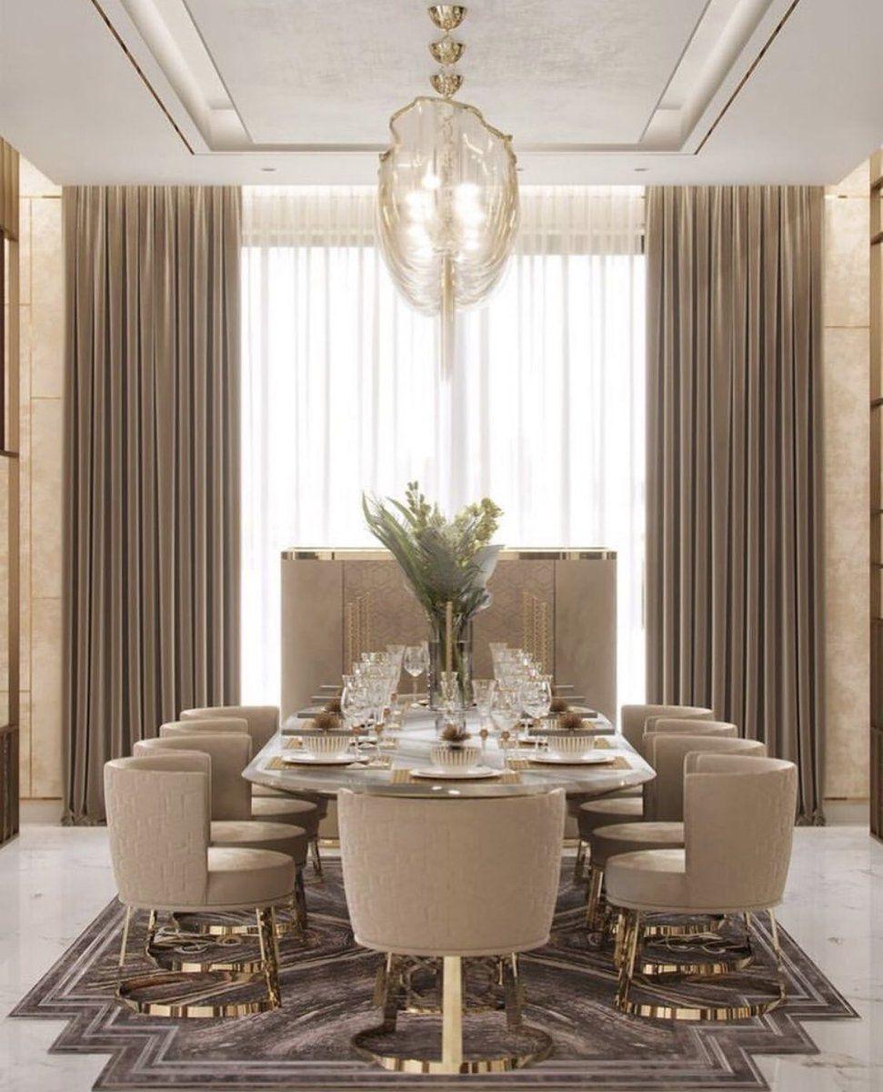 عالم الديكور On Twitter Dining Room Interiors Luxury Dining Room Elegant Dining Room An elegant dining room