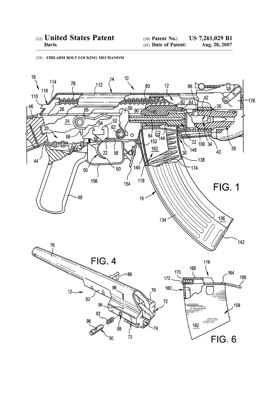 ak-47 rifle bolt lock patent
