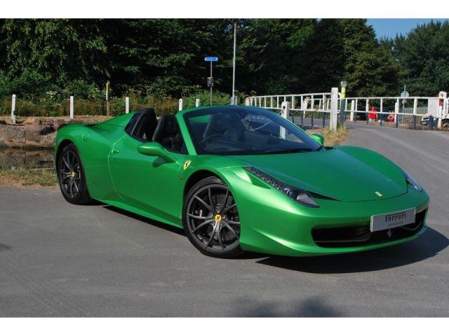 ferrari 458 spider v8 f1 in exeter 232995 - Ferrari 458 Spider Green