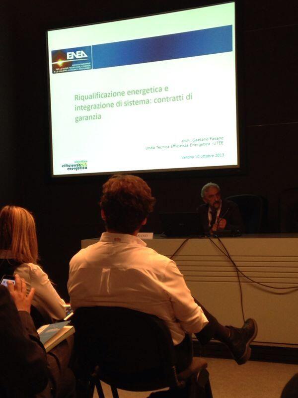 """Gaetano Fasano di @ENEAWebTV relatore per la lecture """"L'Energy Performance Contract"""""""