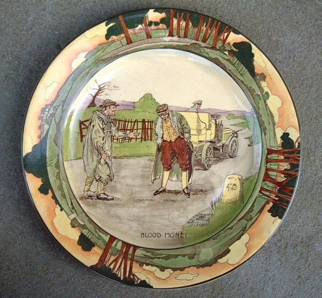 We had this Royal Doulton plate hanging in a little alcove where we had our phone & We had this Royal Doulton plate hanging in a little alcove where we ...
