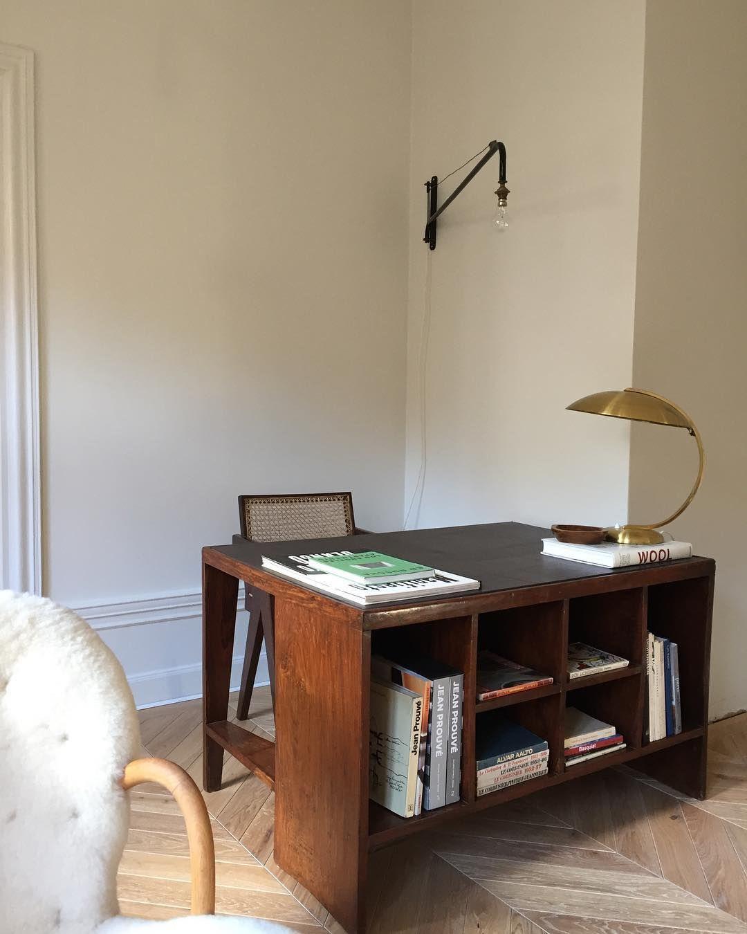 mid century modern home office workspace   study design ideas work ...