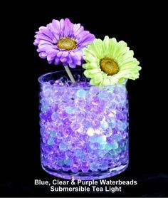 HURRICANE VASES WITH FLOWERS IN WATER | Beautiful Water Beads For .