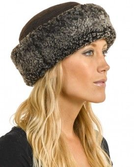 9edcff3e7f4 The Kelowna Shearling Sheepskin Hat in Brown Frost