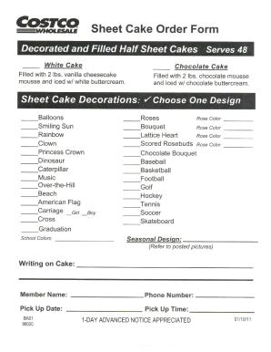 costco cake order form 2018