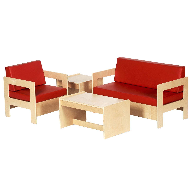 ECR4Kids Children\'s Living Room Set, Natural Finish (4 pc.) - Sam\'s ...