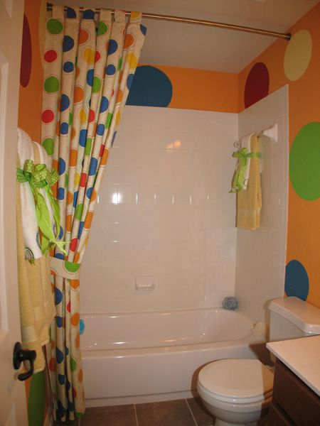 kids bathroom color ideas in kids bathroom decoration ideas circle sticker for kids bathroom