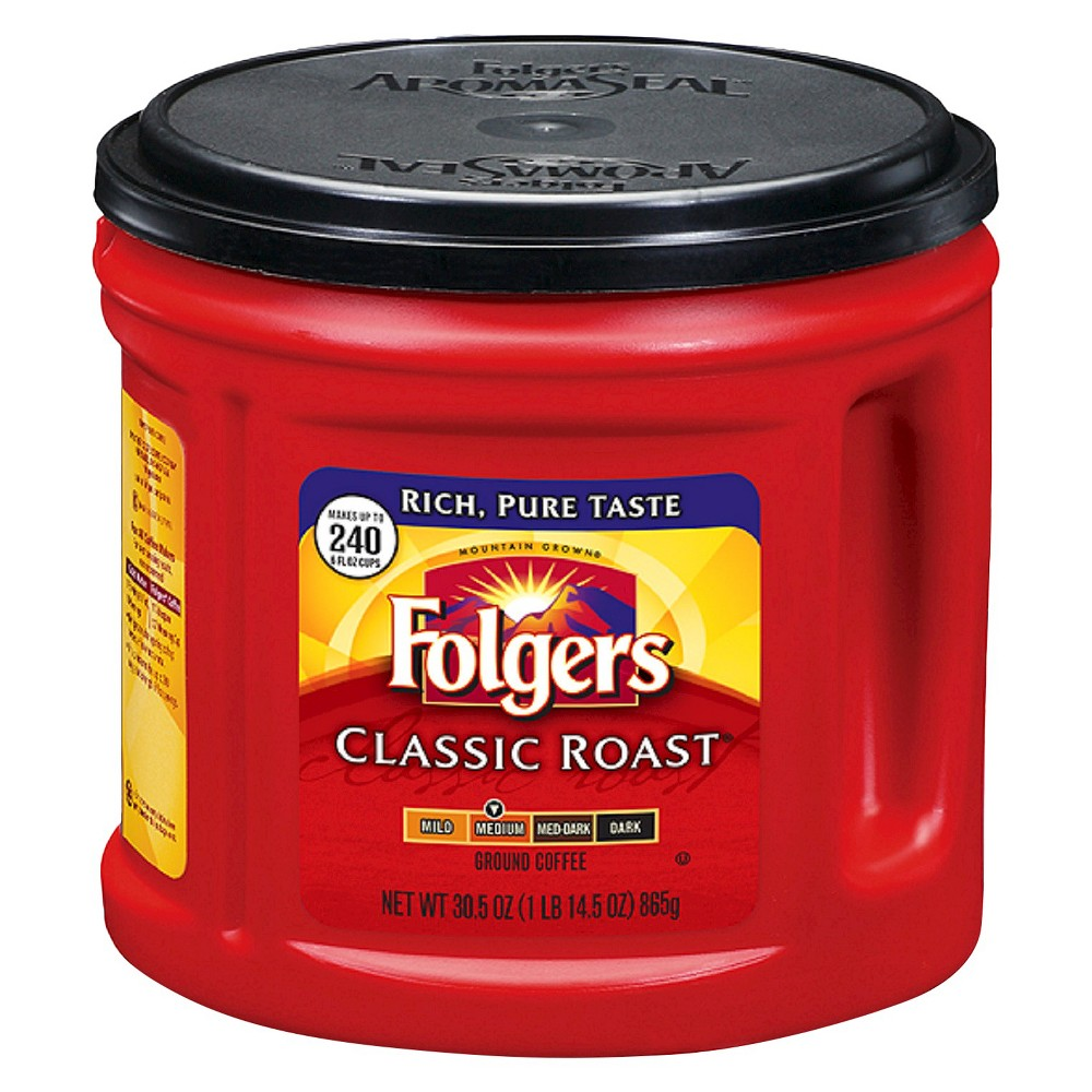 Folgers Classic Medium Roast Ground Coffee 30.5oz