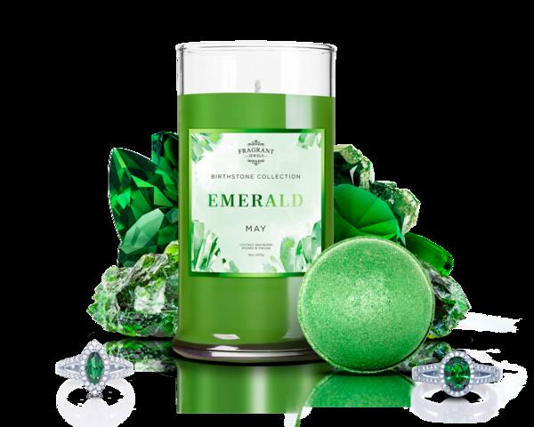 May Birthstone Emerald Candle & Bath Bomb Gift Set