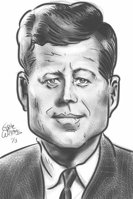 JFK Caricature.... | CARICATURES (͡๏̯͡๏) | Pinterest | Caricature ...