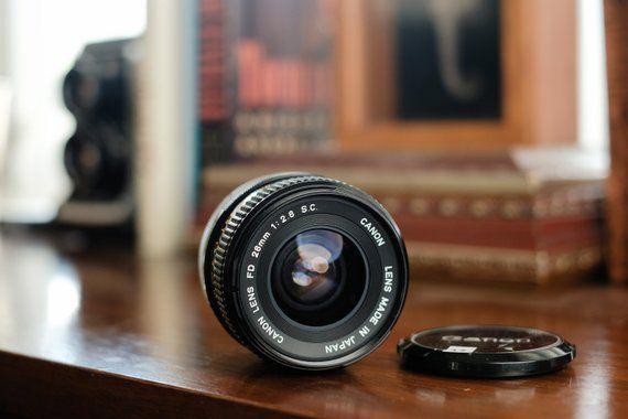 Canon 28mm F 2 8 Fd Mount Ae 1 Manual Focus Lens Ex Etsy Manual Focus Lens Canon