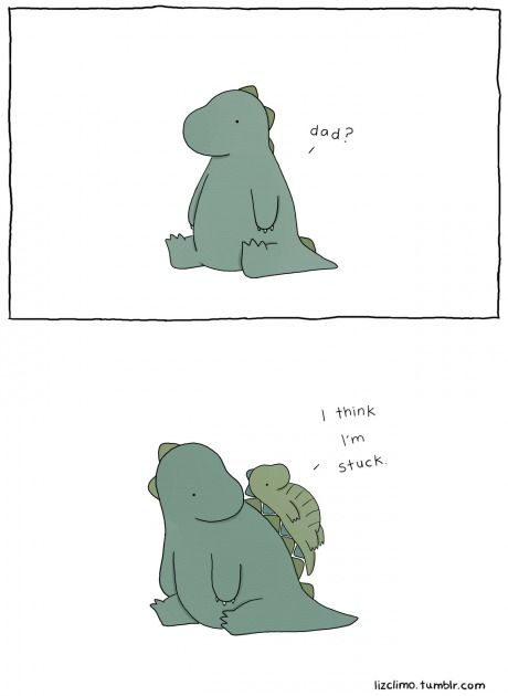 It's not easy being a dinosaur...