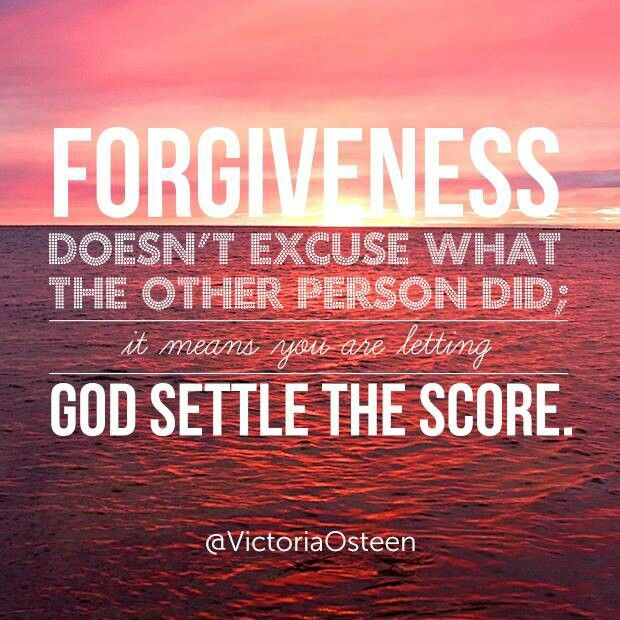 Forgive, let God settle the score  | Pastor | Bible quotes
